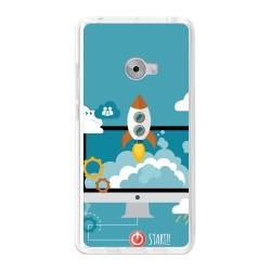 Funda Gel Tpu para Xiaomi Mi Note 2 5.7 Diseño Cohete Dibujos