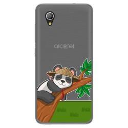 Funda Gel Transparente para Alcatel 1 2019 diseño Panda Dibujos