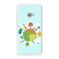 Funda Gel Tpu para Xiaomi Mi Note 2 5.7 Diseño Familia Dibujos