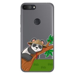 Funda Gel Transparente para Alcatel 1S 2019 diseño Panda Dibujos
