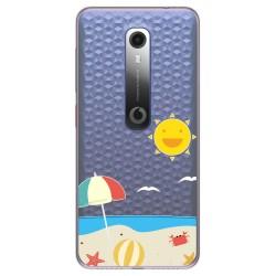 Funda Gel Transparente para Vodafone Smart N10 diseño Playa Dibujos