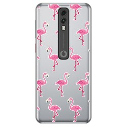 Funda Gel Transparente para Vodafone Smart V10 diseño Flamenco Dibujos