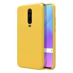 Funda Silicona Líquida Ultra Suave para Xiaomi Mi 9T color Amarillo