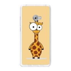 Funda Gel Tpu para Xiaomi Mi Note 2 5.7 Diseño Jirafa Dibujos