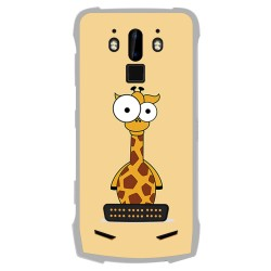 Funda Gel Tpu para Doogee S90 diseño Jirafa Dibujos