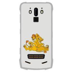 Funda Gel Tpu para Doogee S90 diseño Leones Dibujos