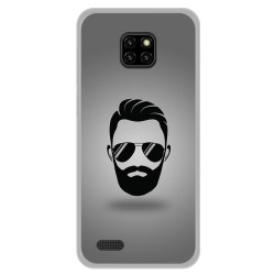 Funda Gel Tpu para Ulefone Note 7 diseño Barba Dibujos
