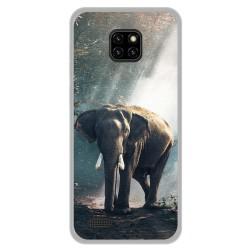 Funda Gel Tpu para Ulefone Note 7 diseño Elefante Dibujos