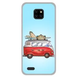 Funda Gel Tpu para Ulefone Note 7 diseño Furgoneta Dibujos