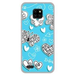 Funda Gel Tpu para Ulefone Note 7 diseño Mariposas Dibujos