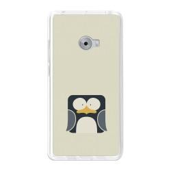 Funda Gel Tpu para Xiaomi Mi Note 2 5.7 Diseño Pingüino Dibujos