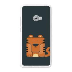 Funda Gel Tpu para Xiaomi Mi Note 2 5.7 Diseño Tigre Dibujos