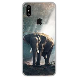 Funda Gel Tpu para Oukitel C15 Pro diseño Elefante Dibujos