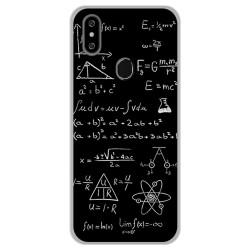 Funda Gel Tpu para Oukitel C15 Pro diseño Formulas Dibujos