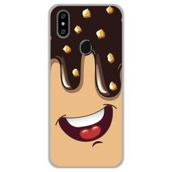 Funda Gel Tpu para Oukitel C15 Pro diseño Helado Chocolate Dibujos
