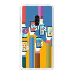 Funda Gel Tpu para Xiaomi Mi Mix Diseño Apps Dibujos
