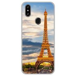 Funda Gel Tpu para Oukitel C15 Pro diseño Paris Dibujos