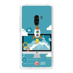 Funda Gel Tpu para Xiaomi Mi Mix Diseño Cohete Dibujos