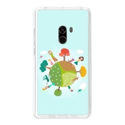 Funda Gel Tpu para Xiaomi Mi Mix Diseño Familia Dibujos