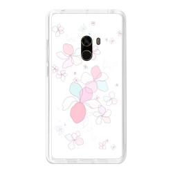 Funda Gel Tpu para Xiaomi Mi Mix Diseño Flores-Minimal Dibujos