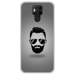 Funda Gel Tpu para Ulefone Power 6 diseño Barba Dibujos