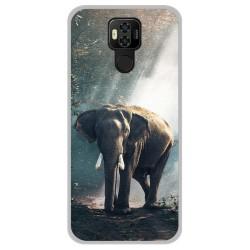 Funda Gel Tpu para Ulefone Power 6 diseño Elefante Dibujos