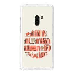 Funda Gel Tpu para Xiaomi Mi Mix Diseño Mundo-Libro Dibujos