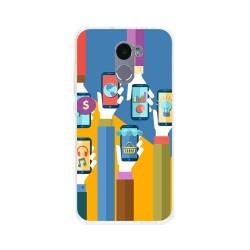 Funda Gel Tpu para Xiaomi Redmi 4 Diseño Apps Dibujos