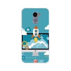 Funda Gel Tpu para Xiaomi Redmi 4 Diseño Cohete Dibujos