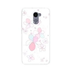 Funda Gel Tpu para Xiaomi Redmi 4 Diseño Flores-Minimal Dibujos