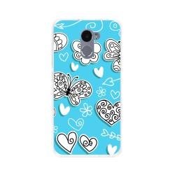 Funda Gel Tpu para Xiaomi Redmi 4 Diseño Mariposas Dibujos