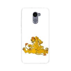 Funda Gel Tpu para Xiaomi Redmi 4 Diseño Leones Dibujos