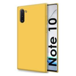 Funda Silicona Líquida Ultra Suave para Samsung Galaxy Note10 color Amarilla