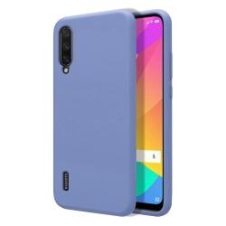Funda Silicona Líquida Ultra Suave para Xiaomi Mi A3 color Azul Celeste