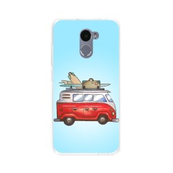 Funda Gel Tpu para Xiaomi Redmi 4 Diseño Furgoneta Dibujos