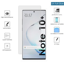 Protector Cristal Templado Completo Curvo UV Full Glue para Samsung Galaxy Note10+