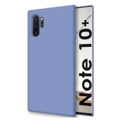 Funda Silicona Líquida Ultra Suave para Samsung Galaxy Note10+ color Azul Celeste