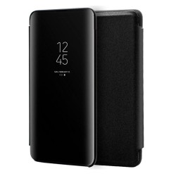 Funda Flip Cover Clear View para Samsung Galaxy Note10 color Negra