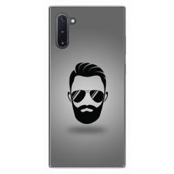 Funda Gel Tpu para Samsung Galaxy Note10 diseño Barba Dibujos