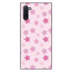 Funda Gel Tpu para Samsung Galaxy Note10 diseño Flores Dibujos