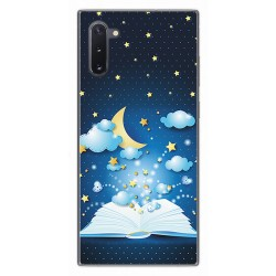 Funda Gel Tpu para Samsung Galaxy Note10 diseño Libro Cuentos Dibujos