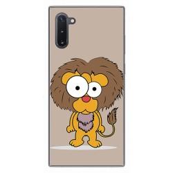 Funda Gel Tpu para Samsung Galaxy Note10 diseño Leon Dibujos