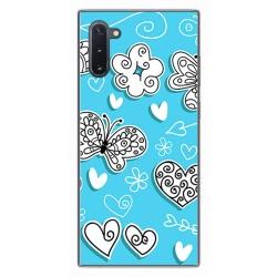 Funda Gel Tpu para Samsung Galaxy Note10 diseño Mariposas Dibujos