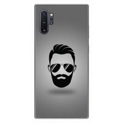 Funda Gel Tpu para Samsung Galaxy Note10+ diseño Barba Dibujos