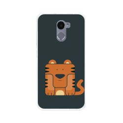 Funda Gel Tpu para Xiaomi Redmi 4 Diseño Tigre Dibujos