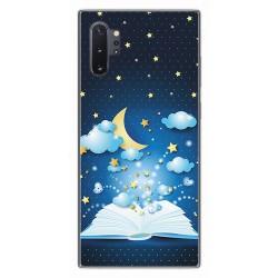 Funda Gel Tpu para Samsung Galaxy Note10+ diseño Libro Cuentos Dibujos