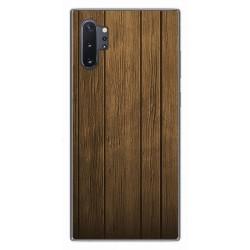 Funda Gel Tpu para Samsung Galaxy Note10+ diseño Madera Dibujos