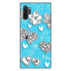 Funda Gel Tpu para Samsung Galaxy Note10+ diseño Mariposas Dibujos