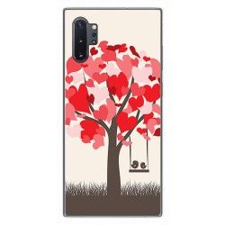 Funda Gel Tpu para Samsung Galaxy Note10+ diseño Pajaritos Dibujos
