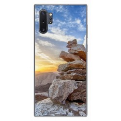 Funda Gel Tpu para Samsung Galaxy Note10+ diseño Sunset Dibujos